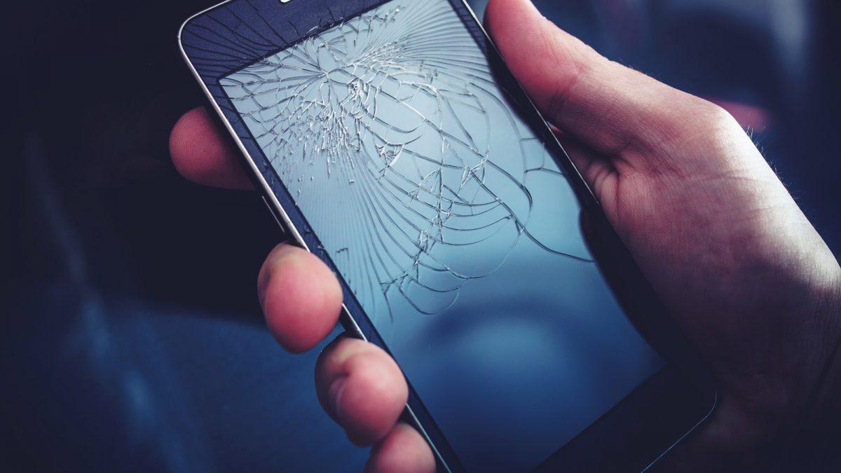 Broken Smartphone Display